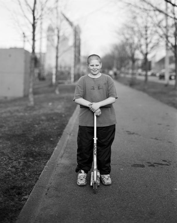 Boy with his razor scooter, 2001